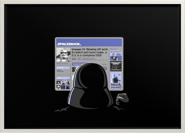 Spacebook trooper 57:Blowing off work to watch pod races today